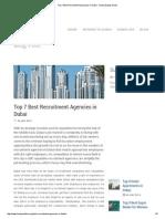 Top 7 Best Recruitment Agencies in Dubai - Dubai Expats Guide