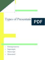 1. Types of Presentations