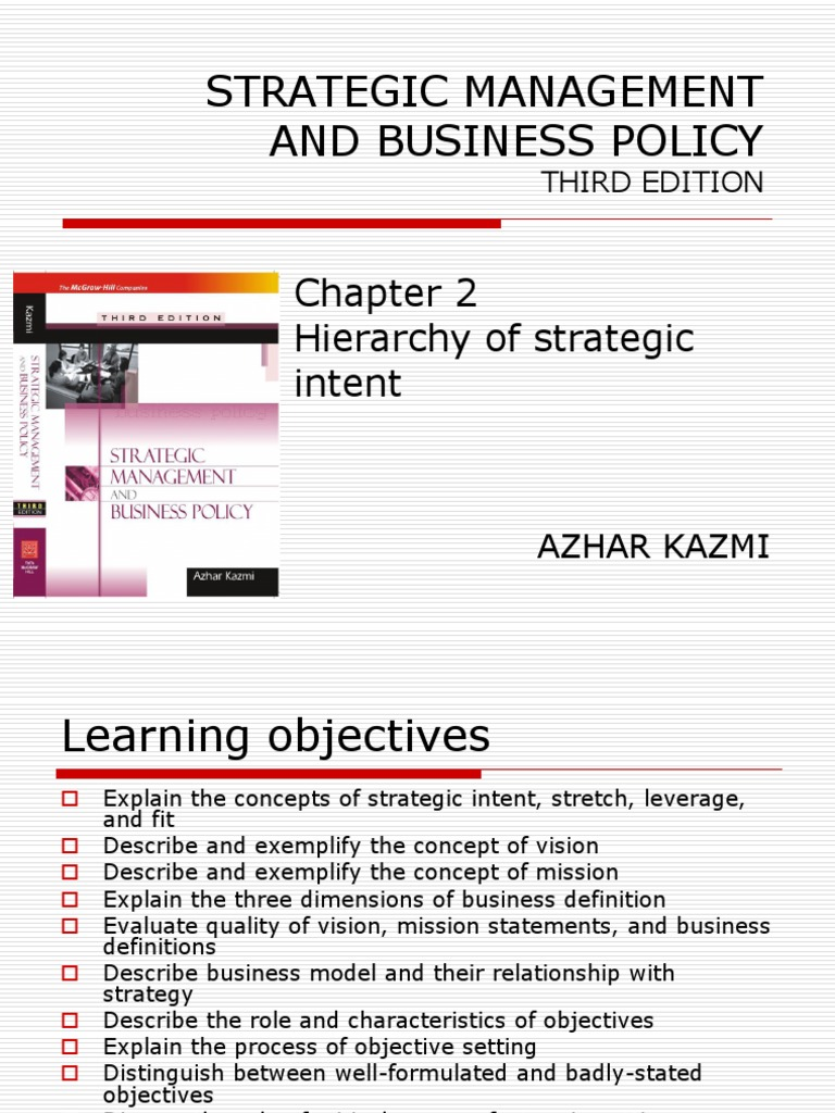 Kazmi Strategy Mgt Lessons | Strategic Management | Leadership