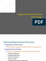 Organization structure design