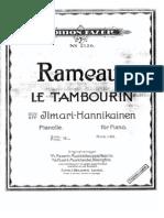 Rameau - Le Tambourin
