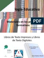 Tecnología Educativa. Evaluación de Materiales