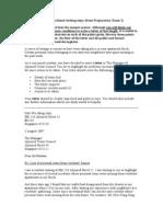 Sample Formal Letter 1