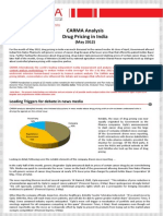 CARMA Analysis Regulation of Drug Pricing May 2012