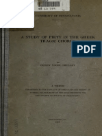 Study of Piety in Greek Tragic Chorus