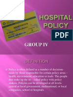 Hospital Policy