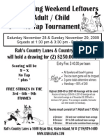 Rab's Thanksgiving Weekend Leftovers Adult/Child No-Tap Tournament