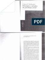 Hollander - Principios y Métodos de Psicologia Social