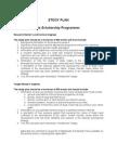 Postgraduate Study Plan Guidelines