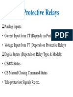 Inputs of Protective Relays