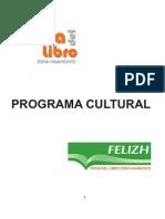 Programa Cultural Feria Del Libro Zona Huancayo