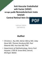 Pengaruh Anti-Vascular Endothelial Growth Factor (VEGF)
