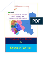 Error and Trial Model on Conflict Resolution of Kashmir