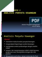 T3 Analisis Penyata Kewangan
