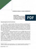 Ignácio Rangel - Criminalidade e Crise Econômica