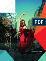 Malta Arts Festival Programme of Events