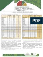 Boletín Mensual Frutihortícola Enero 2014