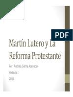Unidad 8 Martín Lutero y La Reforma Protestante - Andrea Sierra Acevedo