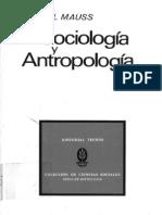 36148255 Marcel Mauss Sociologia y Antropologia