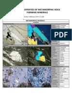 Sifat Optik Mineral - mineral Batuan Metamorf