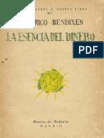 A La Esencia Del Dinero - Friedrich Bendixen