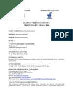 Silabus Kursa Procesna Integracija HT-HI-2011