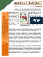 Boekbespreking Crisis in Het Kort - Bart Meijer