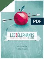 festival les 3 Eléphants 2014 - Laval (53) - dossier de presse