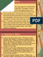A Teacher's Story - Teddy Case