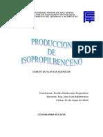 Diseño de Una Planta Para La Produccion de Isopropilbenceno1