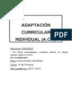 Adaptación Curricular TDAH
