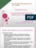 TM 4. Karakteristik Ekonomi Pertanian Indonesia NBD