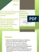 Teste de Rorschach Historia, Aplicação e Interpretação