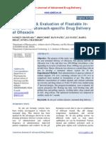 Formulation & Evaluation of Floatable Insitu Gel for Stomach-specific Drug Delivery of Ofloxacin
