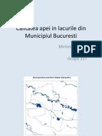 Calitatea Apei -Lacurile Din Bucuresti (1)