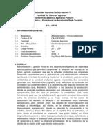 Administracion y Finanza Agricola-p.n