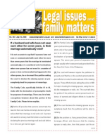 Legal Issues and Family Matters Number 003 July 16 2008