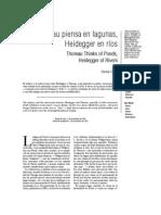 Thoreau Piensa en Lagunas, Heidegger en Ríos (Artículo de LaTorreDelVirrey)
