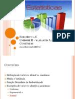 Estatística II - UD II - VA Continua