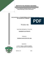 APLICACION TRANSFORMA Wavelets Para El Estudio de Calidad de Energia -TESIS