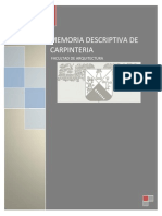 Memoria de Carpinteria - Copia