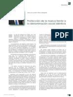 Articulo LA TOGA La Proteccion de La Marca Frente a La Denominacion Social Identica