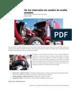Optimización de Los Intervalos de Cambio de Aceite en Vehículos Pesados