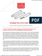 Grinding Your Own Lathe Tools