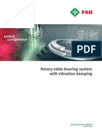 Rotary Table Bearing System With Vibration Damping