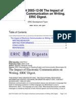 The Impact of CMC on Writig