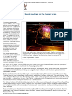 Scientists Create Circuit Board Modeled on the Human Brain -- ScienceDaily