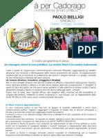 Programma Elettorale Dignità per Cadorago 2014-2019
