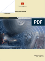 Environmentalle Friendly Pavements Final Report