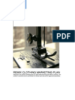 REMIX CLOTHING MARKETING PLAN Attached is the Official Marketing Plan[1]